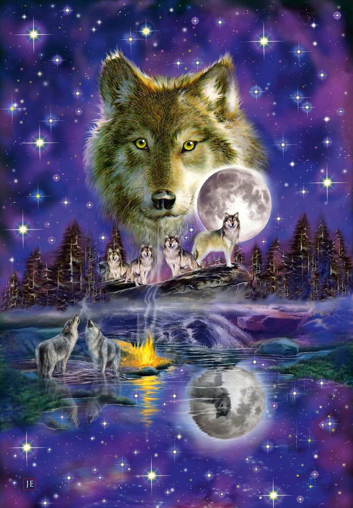 картинки сверкающих волков салоне мастер